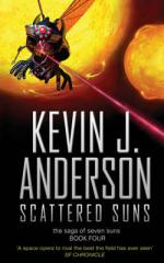 Cover for Scattered Suns : The Saga of Seven Suns - Book 4 by Kevin J Anderson