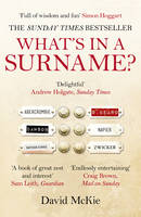 Cover for What's in a Surname? A Journey from Abercrombie to Zwicker by David McKie