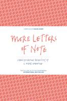 Cover for More Letters of Note Correspondence Deserving of a Wider Audience by Shaun Usher